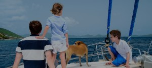 family on a sailboat